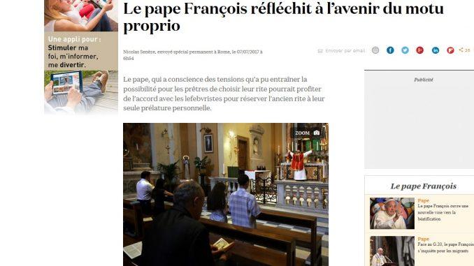 La Croix: Plant Papst Franziskus eine Aufteilung der Interessensphären mit der Piusbruderschaft?