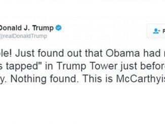 Das Tweet von Donald Trump über Obamas angebliche Bespitzelung