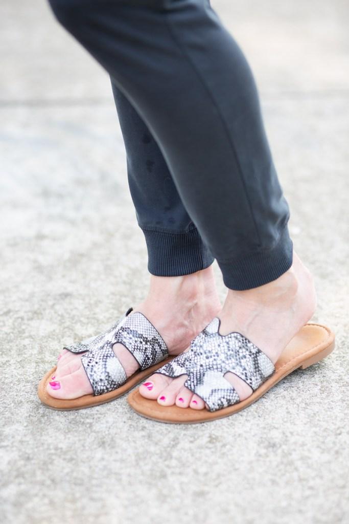 Snakeskin sandals from Amazon