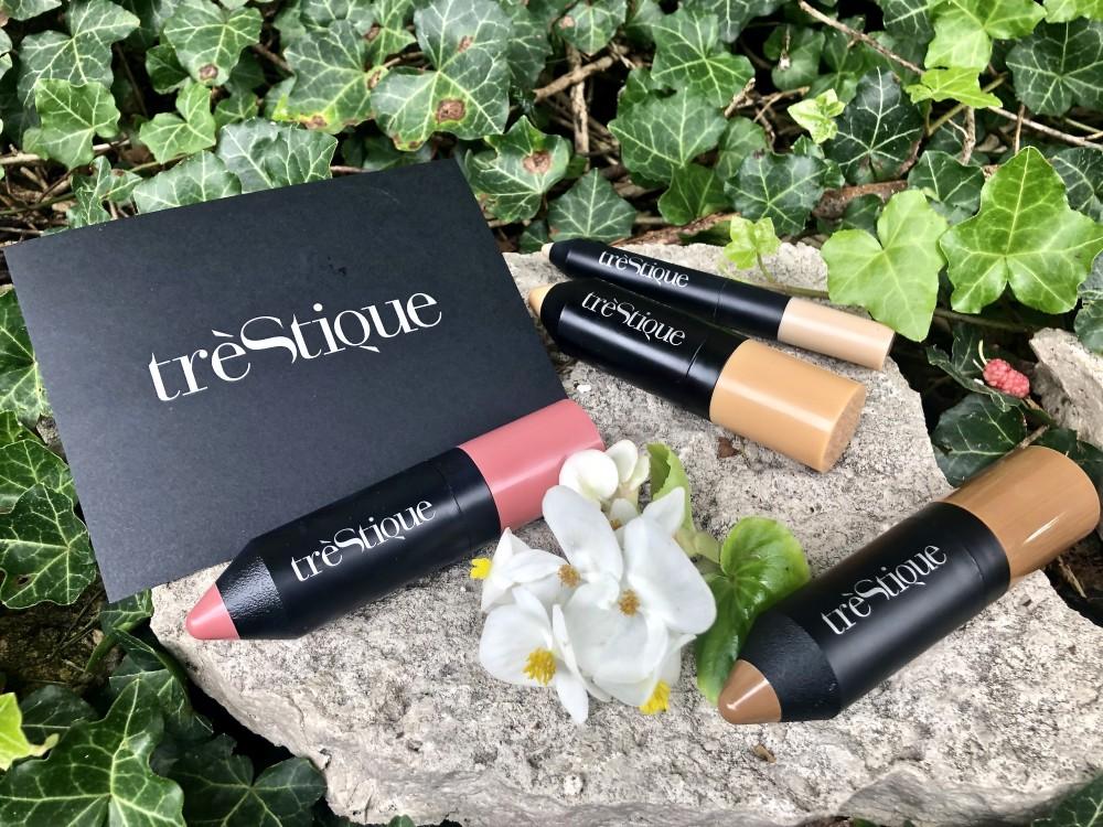 trèStique tinted face stick, concealer crayon, blush stick, and bronzer