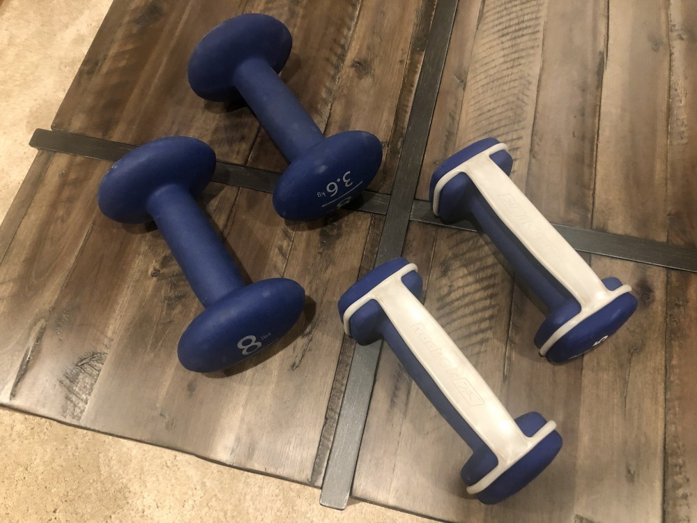 Weights I use for the My Fitness App by Jillian Michaels.