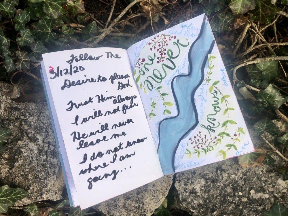 Follow Me from Lenten Journal Lessons