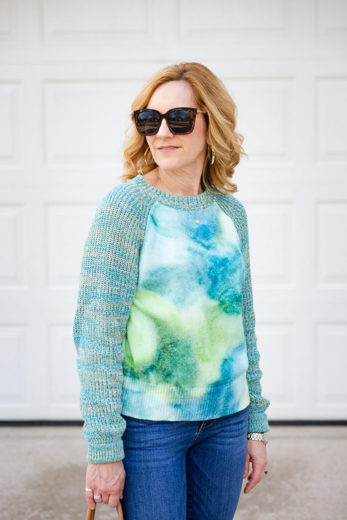 Watercolor Tie-Dyed Sweater by Anthropologie