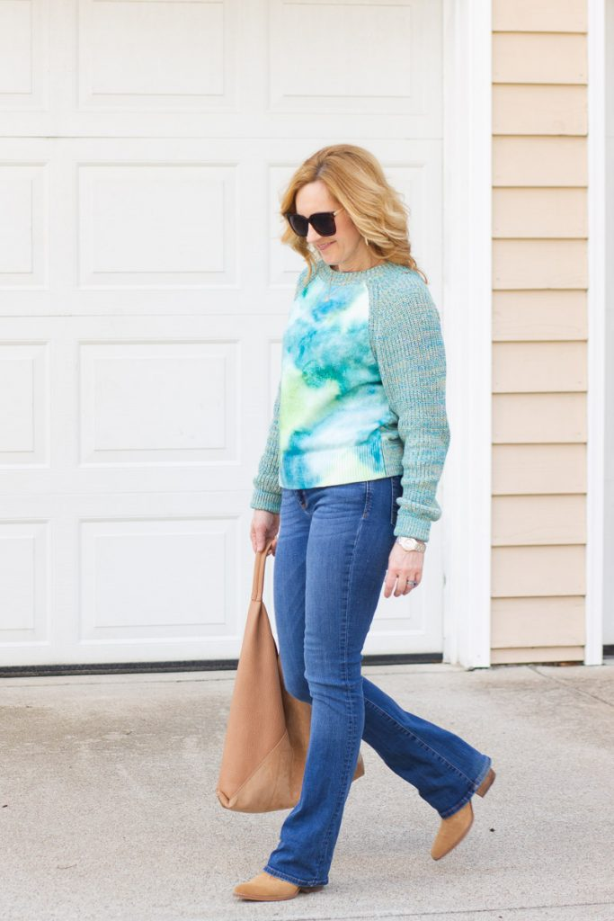 Adding tan accessories to this casual spring look.