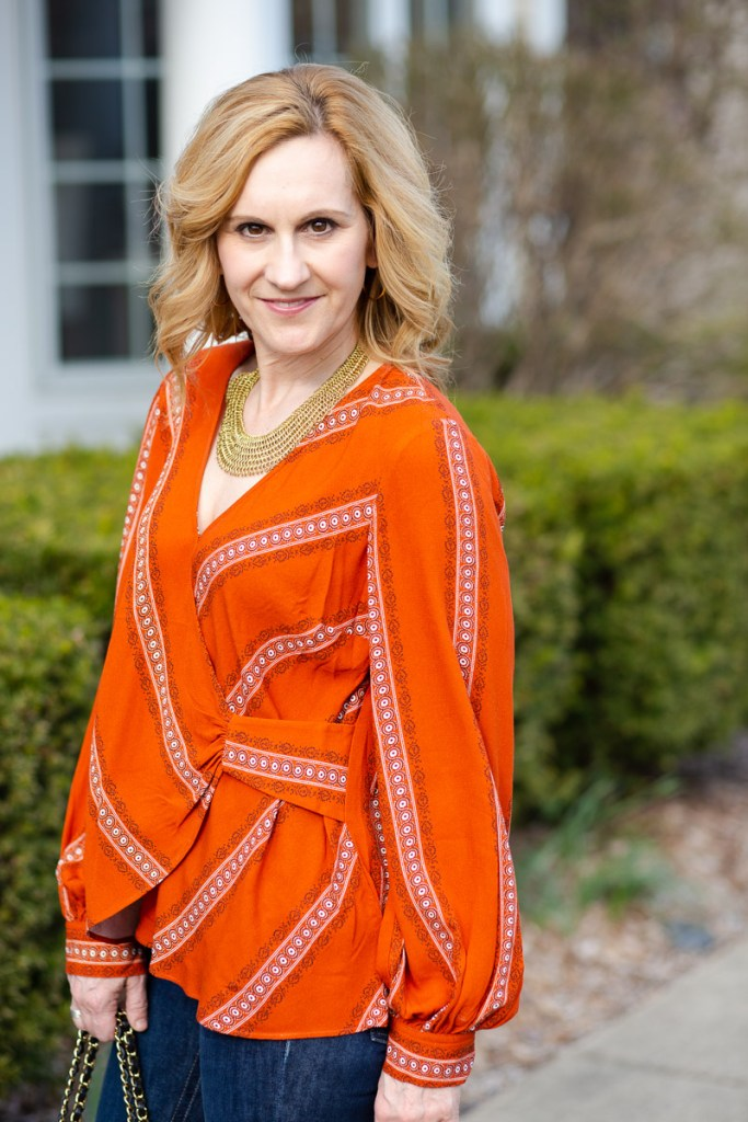 Maeve Nora Surplice Blouse from Anthropologie