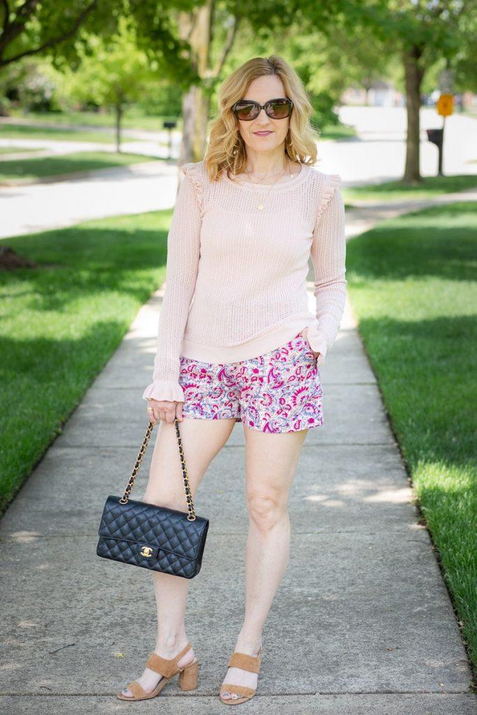 Pretty Paisley Shorts by Kathrine Eldridge, Wardrobe Stylist