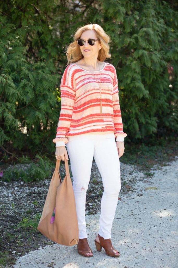 Sunset Striped Sweater by Kathrine Eldridge, Wardrobe Stylist
