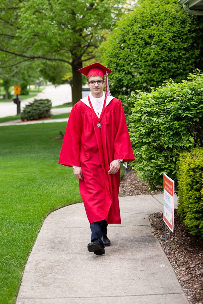 Commemorating my son's high school graduation with a photo shoot.
