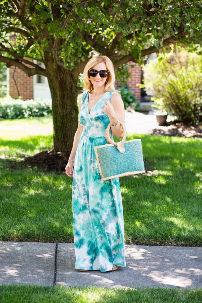 Tie Dye Maxi Dress - Kathrine Eldridge, Wardrobe Stylist
