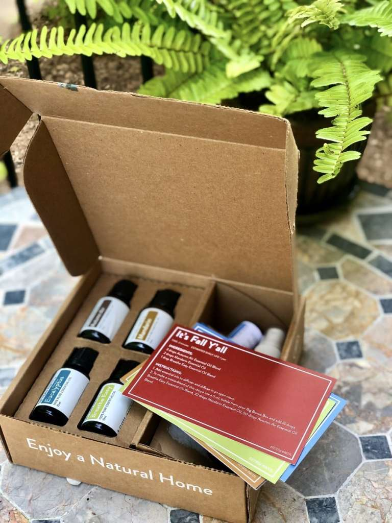 Simply Earthy Essential Oil Recipe Box for Fall 2020
