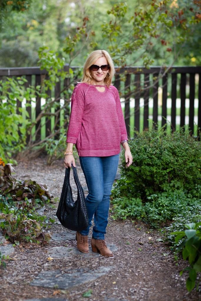 Lovely Lace Up Athleisure Top by Kathrine Eldridge, Wardrobe Stylist