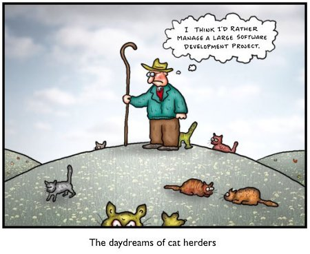 Dealing with people can feel like herding cats