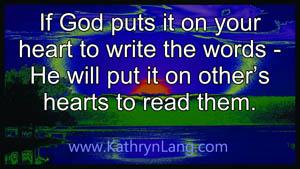 Christian writer writing Christian Books