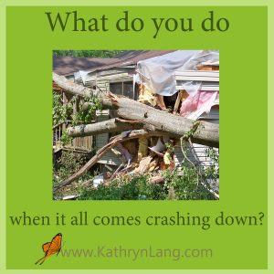 Tornado damage - crashing down