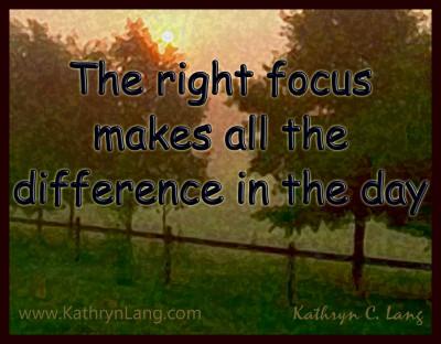 1-3-15 the right focus