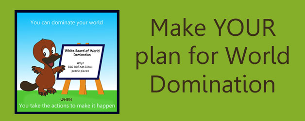 Make YOUR Plan for World Domination