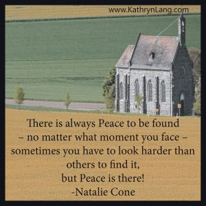 Quote of the Day - Peace to be Found