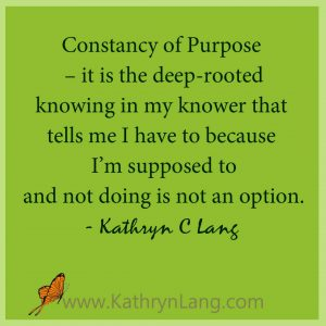 Constancy of Purpose