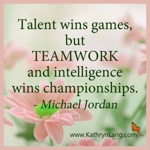 Quote of the Day - Talent Wins - Michael Jordan