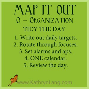 #GrowingHOPE - MAP IT OUT - Organization - Tidy the Day