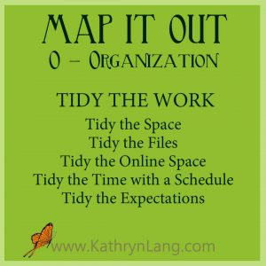 MAP IT OUT - Organization - Tidy the Work