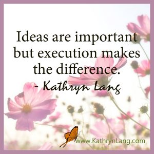 Qutoe of the day - ideas and execution