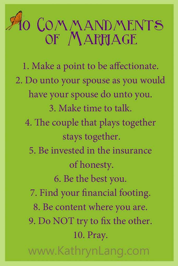 10 Marriage Commandments