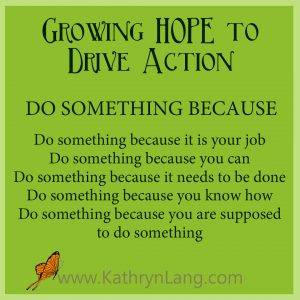 #GrowingHOPE podcast - Do Something Because