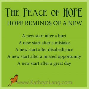 #GrowingHOPE podcast - Peace of HOPE - A New Start