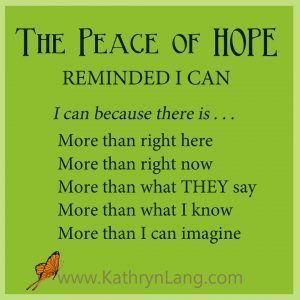 #GrowingHOPE Podcast - Peace of HOPE - Reminded I Can
