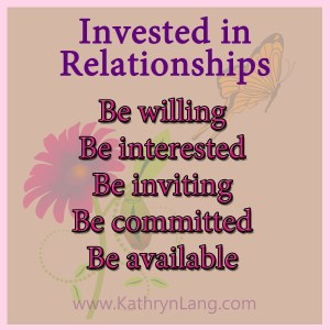 Growing HOPE tips for investing in relationships