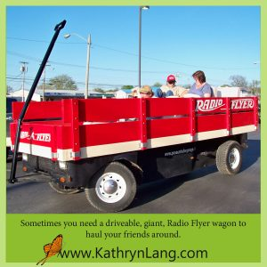 giant red wagon - find your place