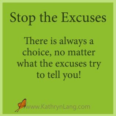 Stop the excuses from Proverbs