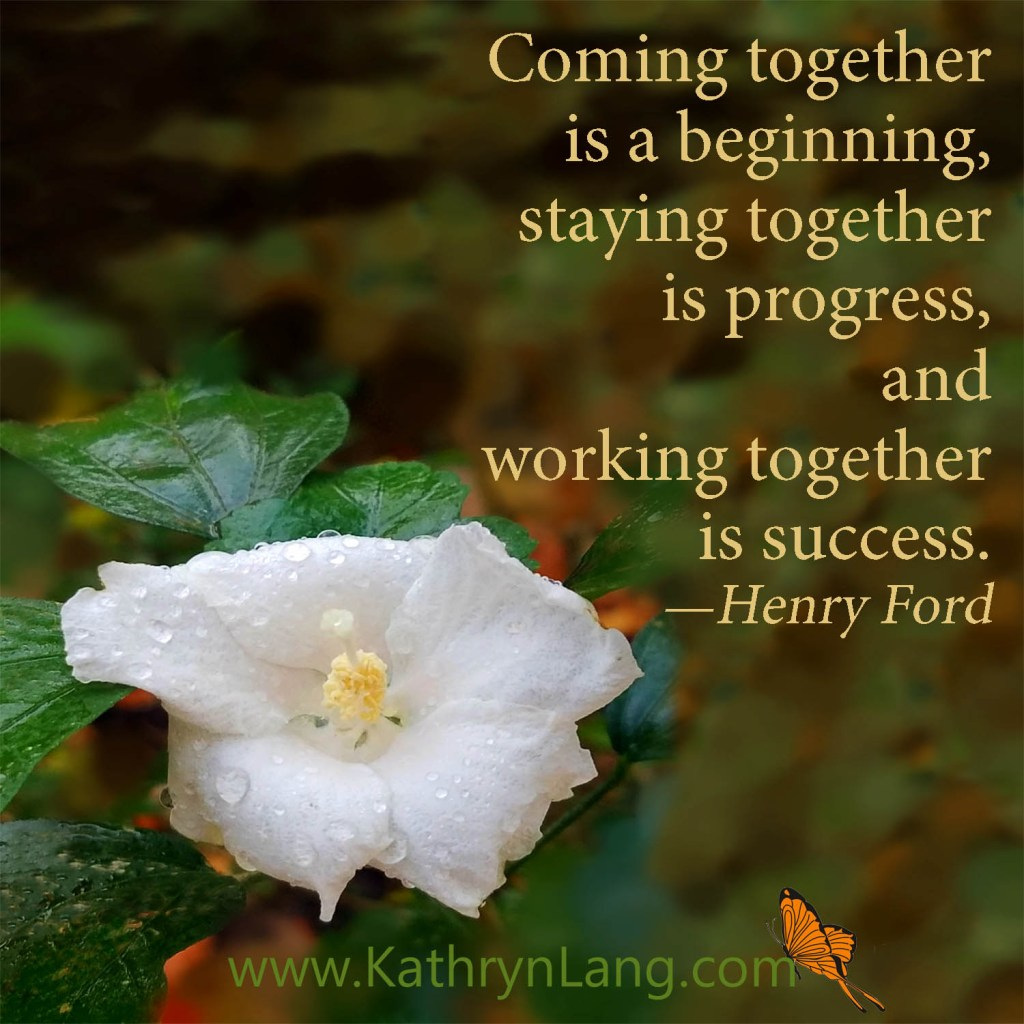 Quote of the Day - working together
