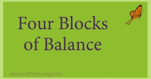 four blocks of balance for WhiteBoard of World Doimination