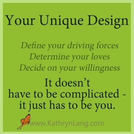 define your unique design