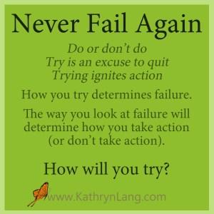 never fail again