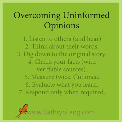 uninformed opinions
