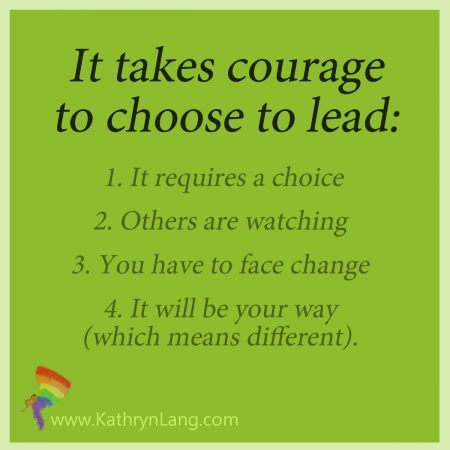 courage to take the lead