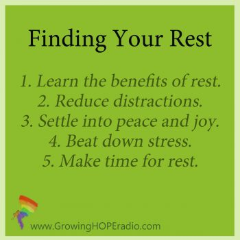 Finding your rest