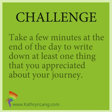 daily challenge - enjoy the journey