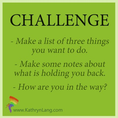 Daily challenge - what's holding you back