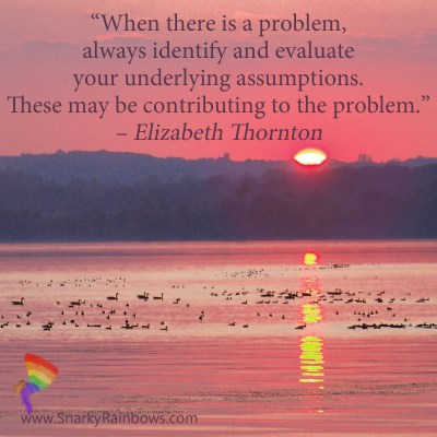 Elizabeth Thornton - your assumptions