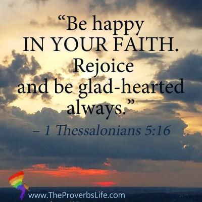 Scripture Focus - 1 Thessalonians 5:16