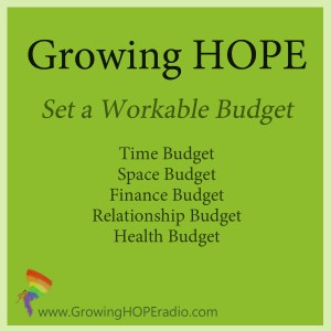 Growing HOPE Daily - set a workable budget