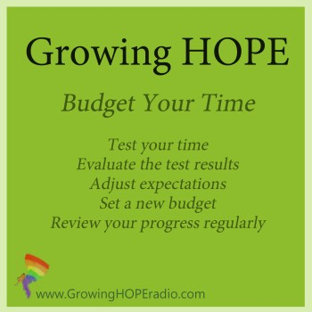 Growing HOPE Daily - 5 Tips to Budget Your Time
