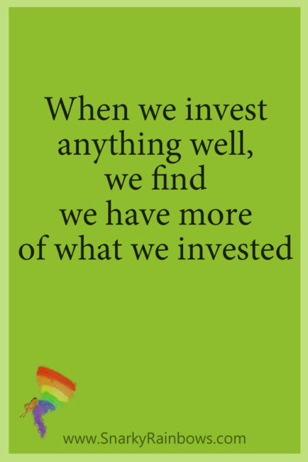 #GrowingHOPE daily - invest