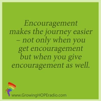 Growing HOPE Daily quote - encouraged to monitor