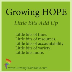 Growing HOPE Daily - five points - little bits