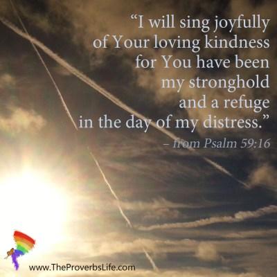 Scripture Focus - Psalm 59:16